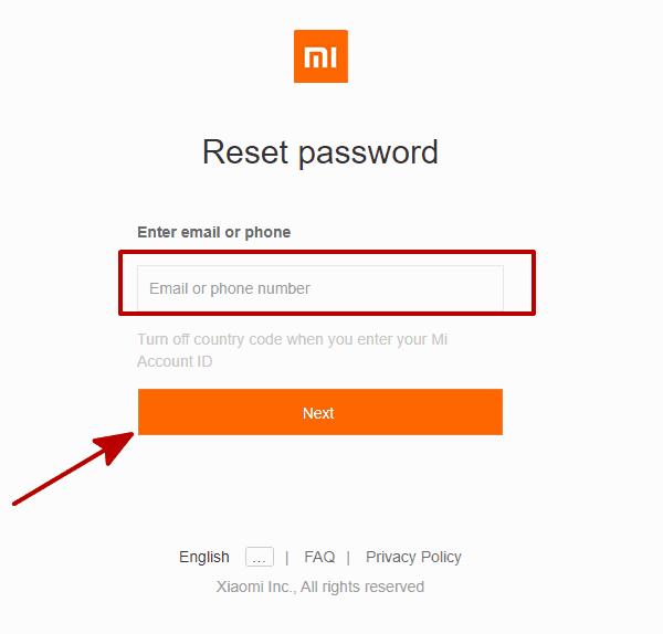 Xiaomiロック 解除
