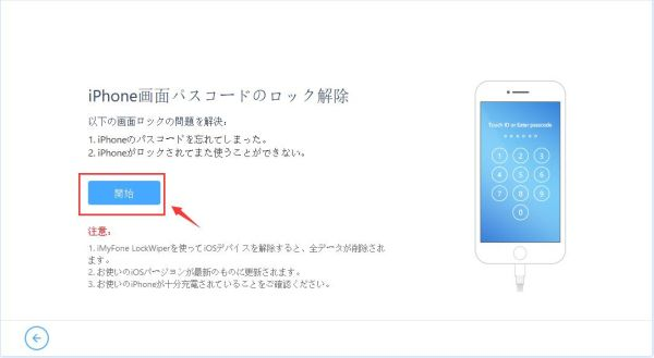 iPad ロック 解除